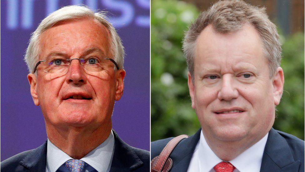 Michel Barnier and David Frost