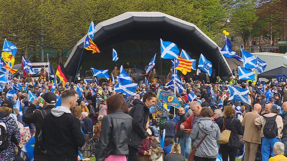 Scottish independence Glasgow Green
