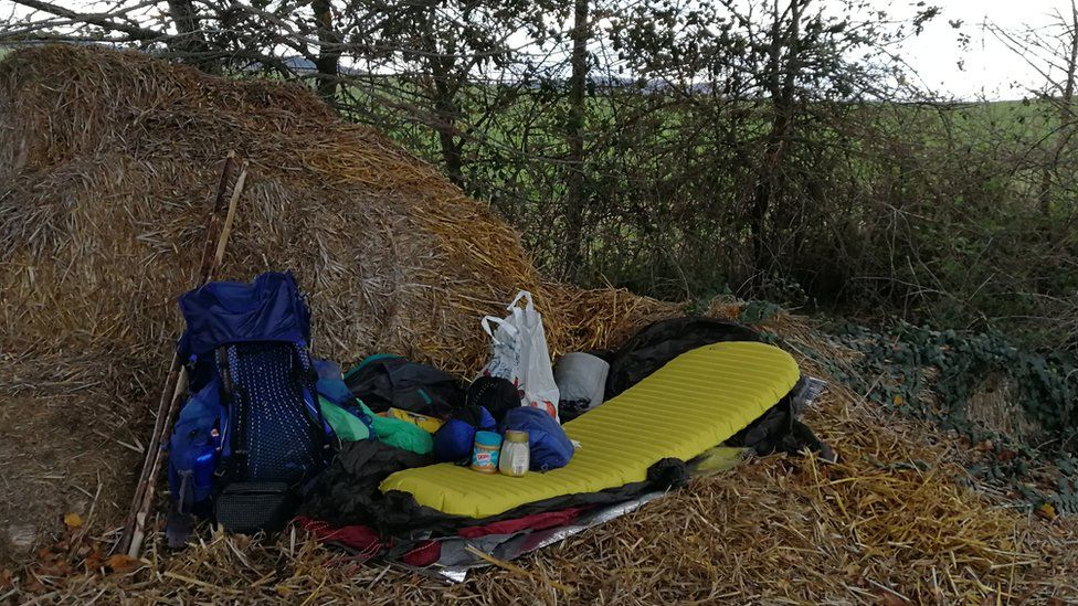 Sleeping out in the wild formed part of the trek
