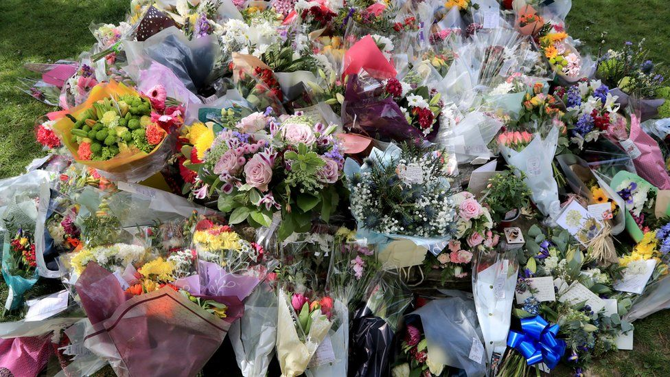 Flowers left in memory of PCSO Julia James