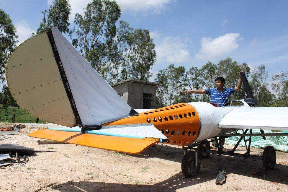 Paen Long with his plane