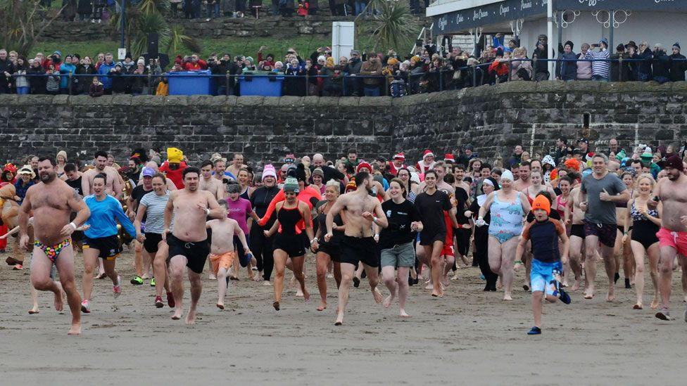 Barry New Year's Day swim