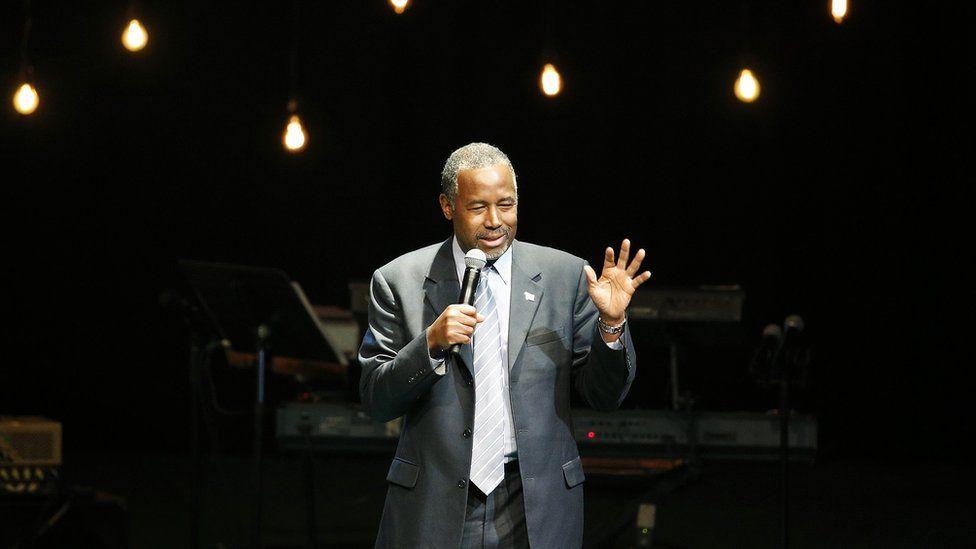 Ben Carson speaks at a church in Nevada.