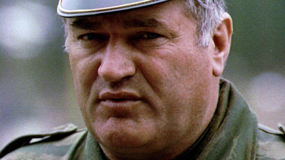 Bosnian Serb army commander General Radko Mladic is pictured in Pale, May 7, 1993. REUTERS/Stringer/Files