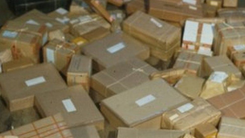 Stack of boxes and parcels