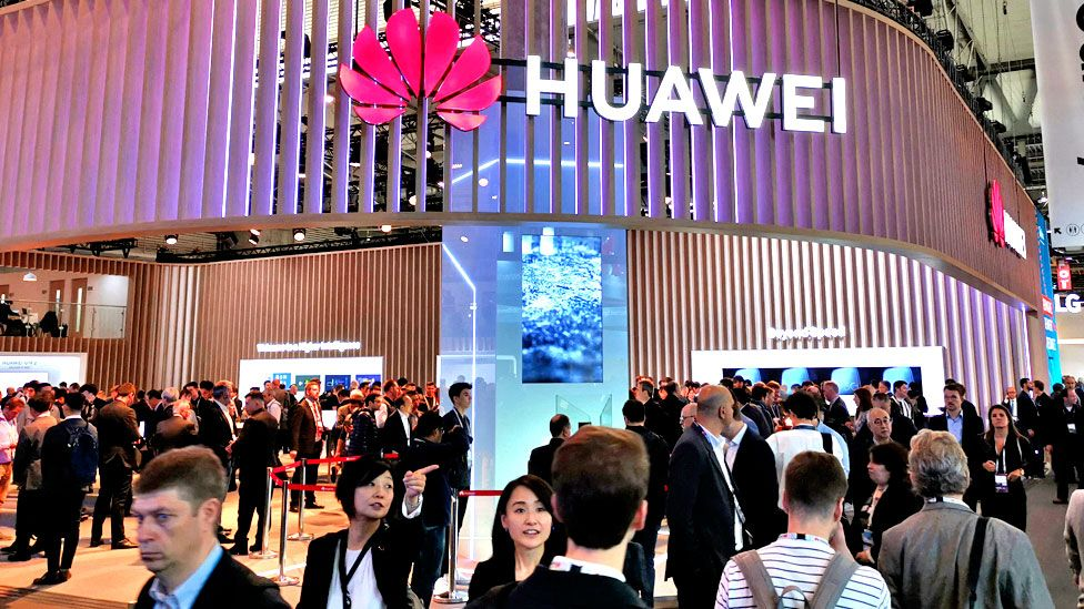 Huawei sign at conference