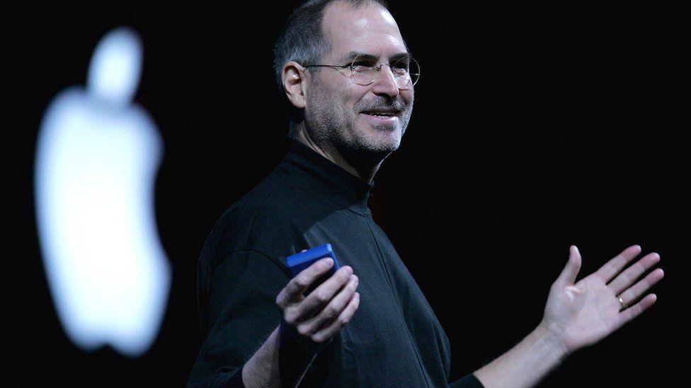 Steve Jobs in 2005 at the Macworld Expo