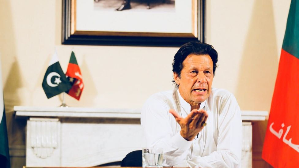 Pakistan's Prime Minister Imran Khan addresses the nation, August 2018