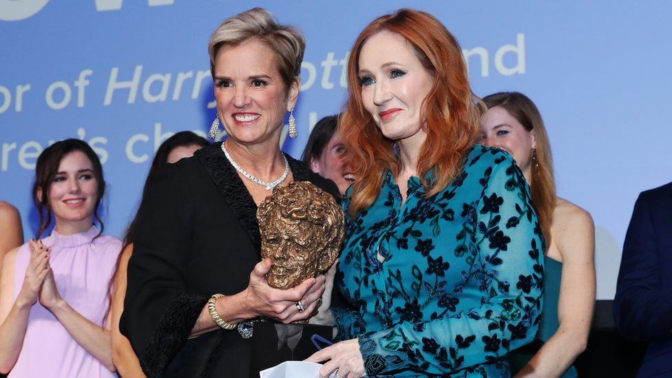 Kerry Kennedy and JK Rowling