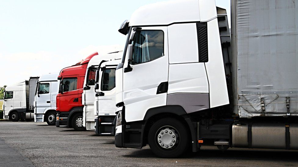 lorry - stock photo
