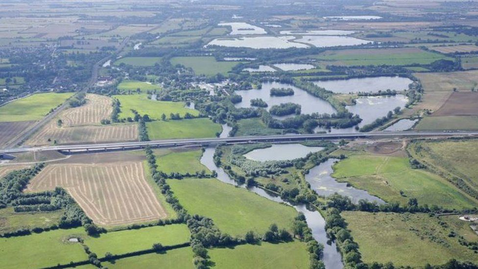 The A14 Huntingdon bypass.