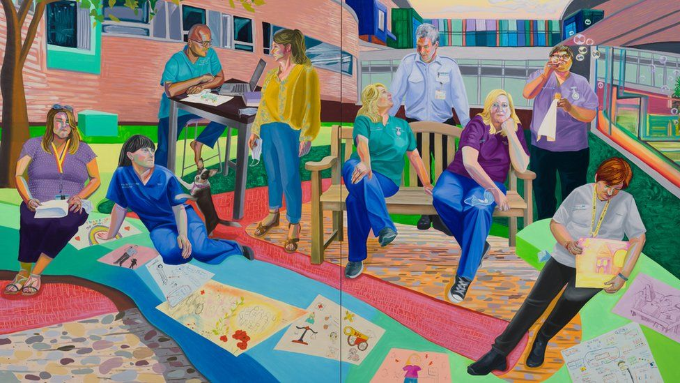 Team Time Storytelling, Alder Hey Children's Hospital Emergency Department, Covid Pandemic, 2020 (detail)
