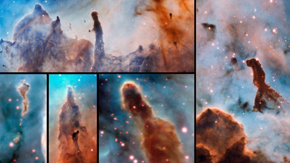 """""""Calamidad cósmica"""": qué dicen del Universo las espectaculares imágenes de los pilares de la destrucción"""