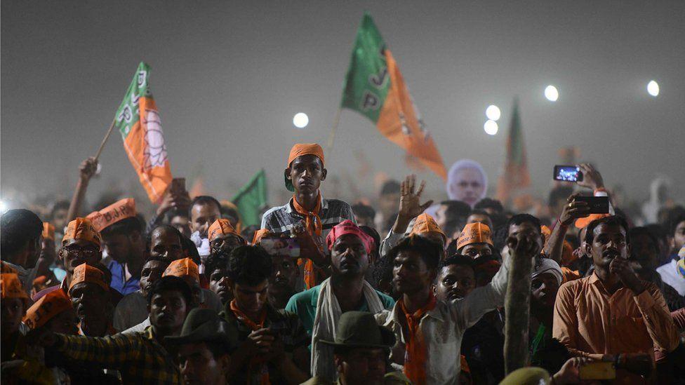 Bharatiya Janata Party (BJP) supporters