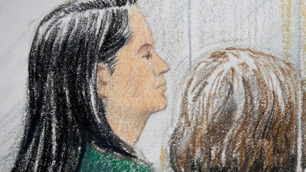 Court sketch of Meng Wanzhou during her bail hearing in Vancouver, British Columbia, Canada 7 December 2018