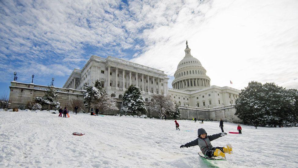 Washington in snow