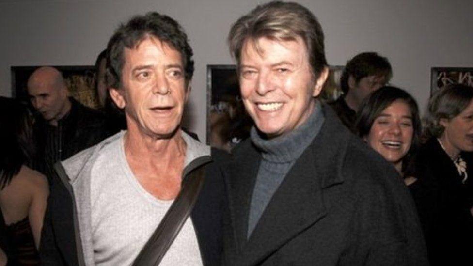 Y diweddar Lou Reed a David Bowie