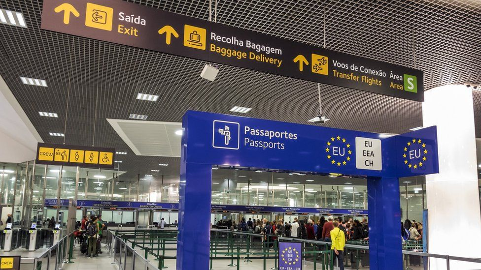 The Ukrainian had arrived in Lisbon without a valid visa