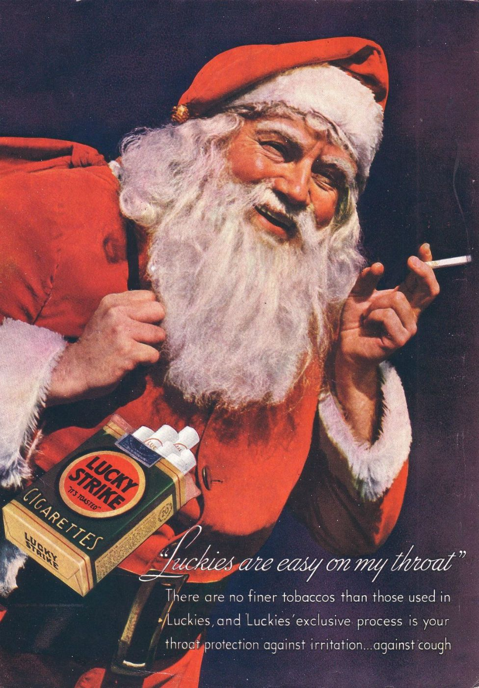 Advert for cigarettes