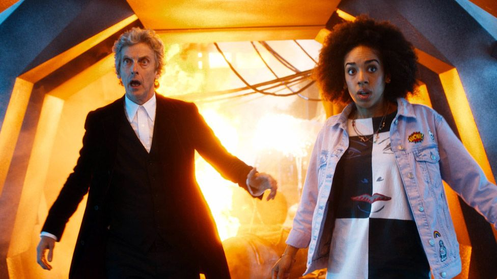 Pearl Mackie and Peter Capaldi in Doctor Who