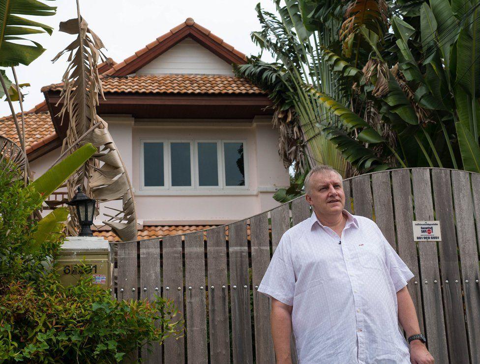 Ian Rance outside his former home in Phuket
