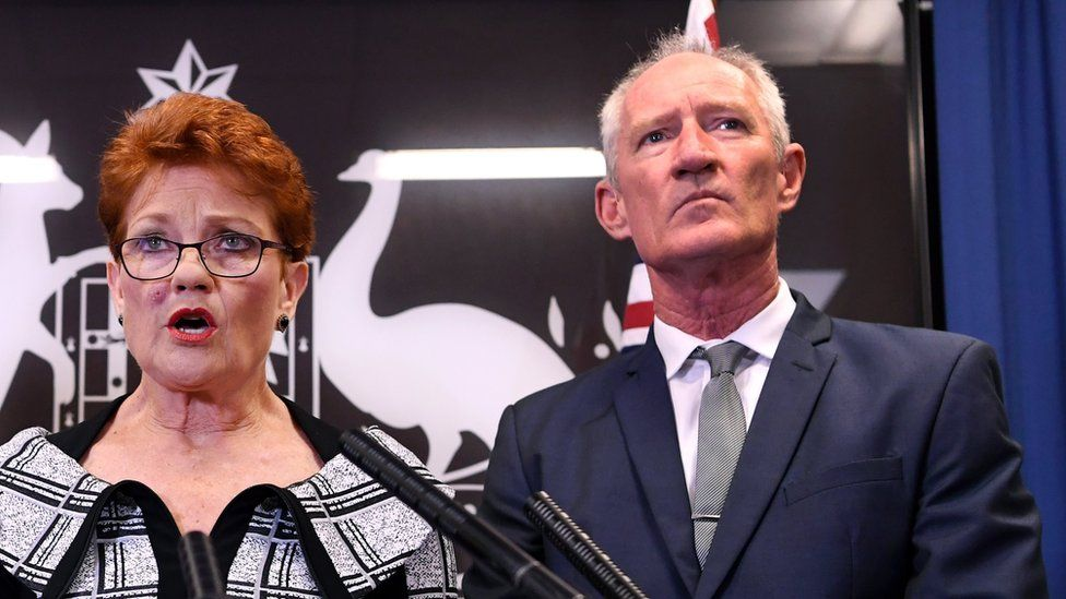 Pauline Hanson and Steve Dickson