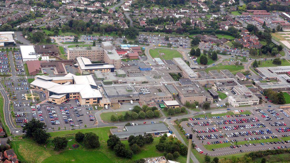 Aerial view of Royal Shrewsbury Hospital