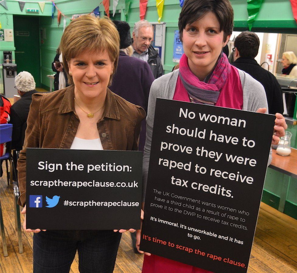 Nicola Sturgeon and Alison Thewliss at a Stop the Rape Clause event