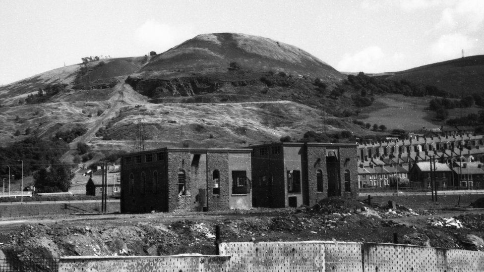 Winding houses at Albion Colliery in 1973 - seven years after closure