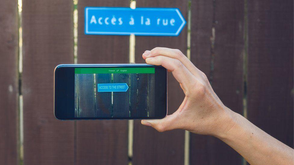 Smartphone translation app