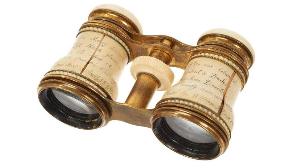 'Abraham Lincoln assassination' opera glasses sell at auction