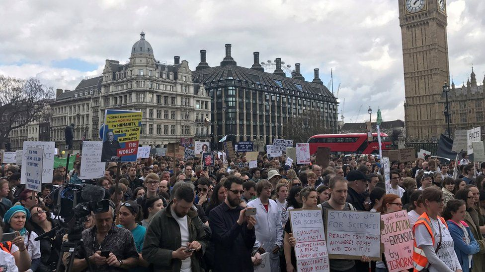 March for Science protesters in London