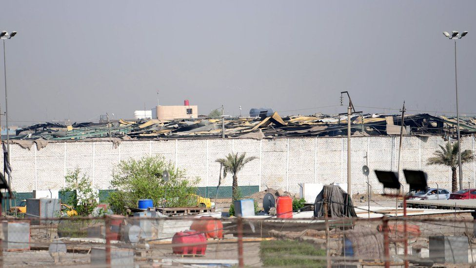 Aftermath of explosion at Popular Mobilisation arms depot near Baghdad (13 August 2019)
