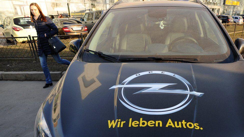 Opel car on show in St Petersburg, 18 Mar 15