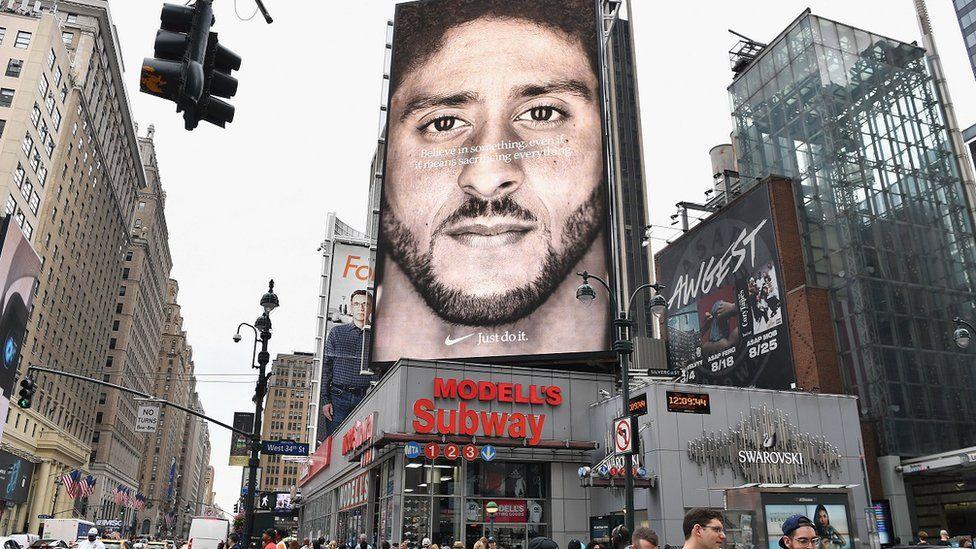 Billboard add with Colin Kaepernick