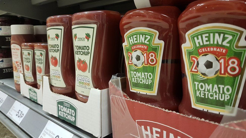 Ketchup: many people are happy with own-brand
