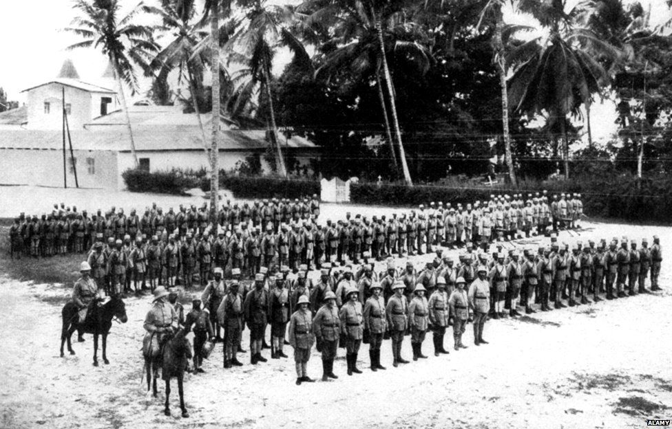 Company of Askaris at Dar es Salaam, August 1914, Tanzania