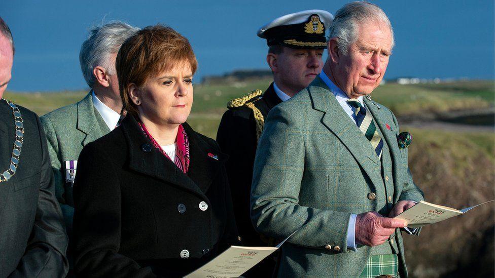 Nicola Sturgeon and Prince Charles