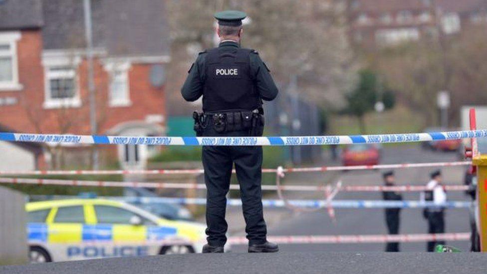 Police at scene after Stephen Carson murder in Walmer Street in Belfast in 2016