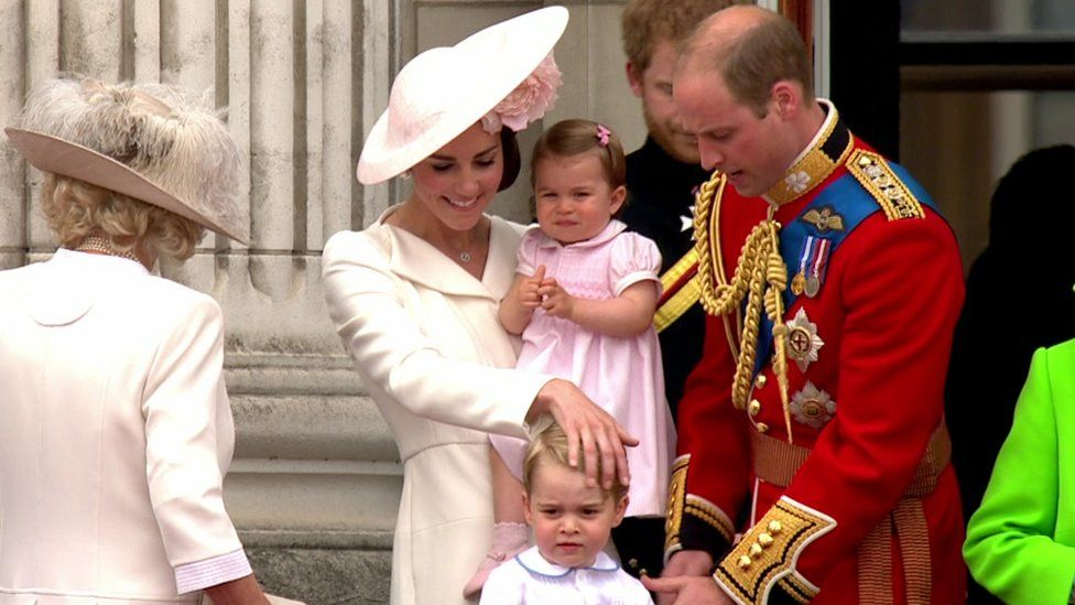 Princess Charlotte joined her family on the balcony at the annual event for the first time