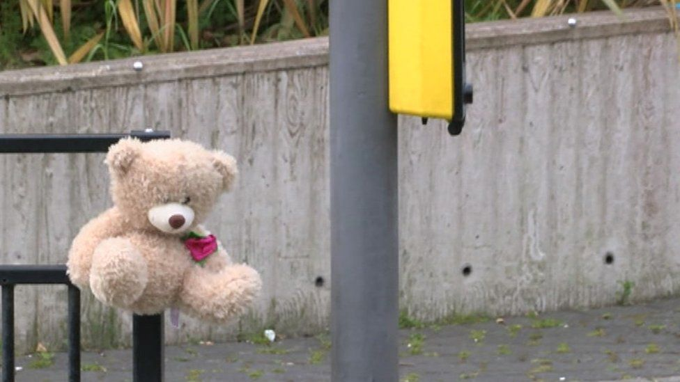 Toy left as tribute to dead boy