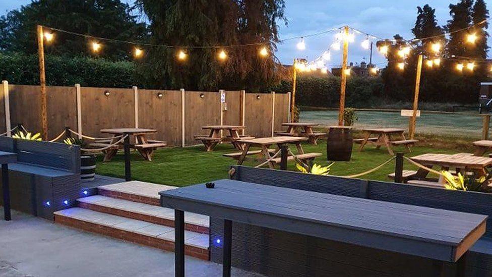 The transformed beer garden
