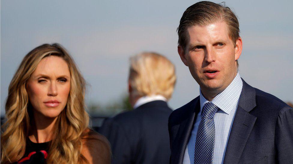 Eric Trump and his wife Lara Yunaska in West Virginia in August 2017