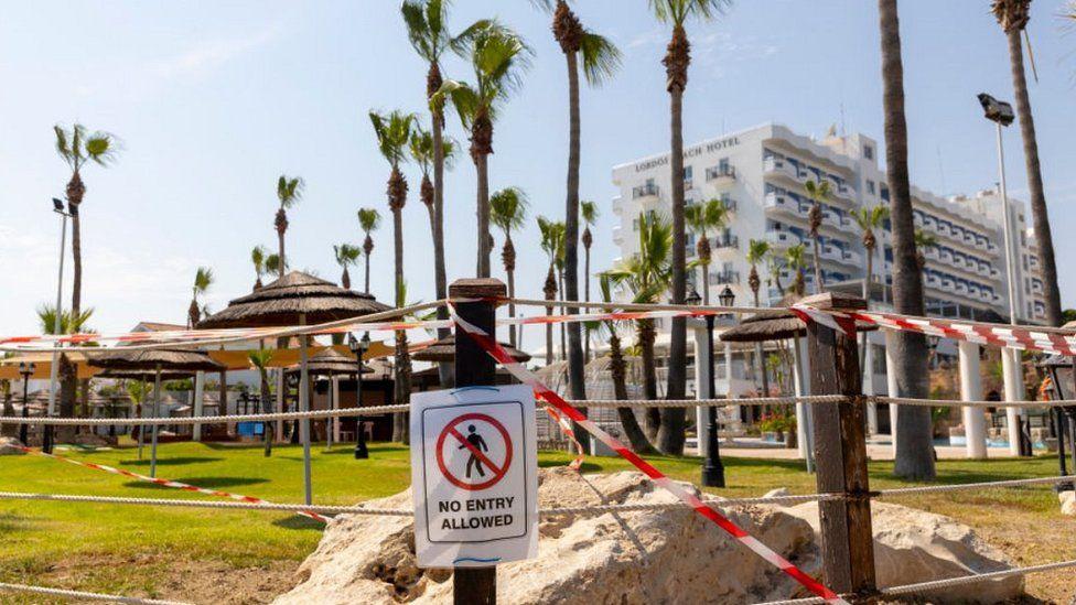 Hotel in Larnaca, Cyprus, 14 July 2020