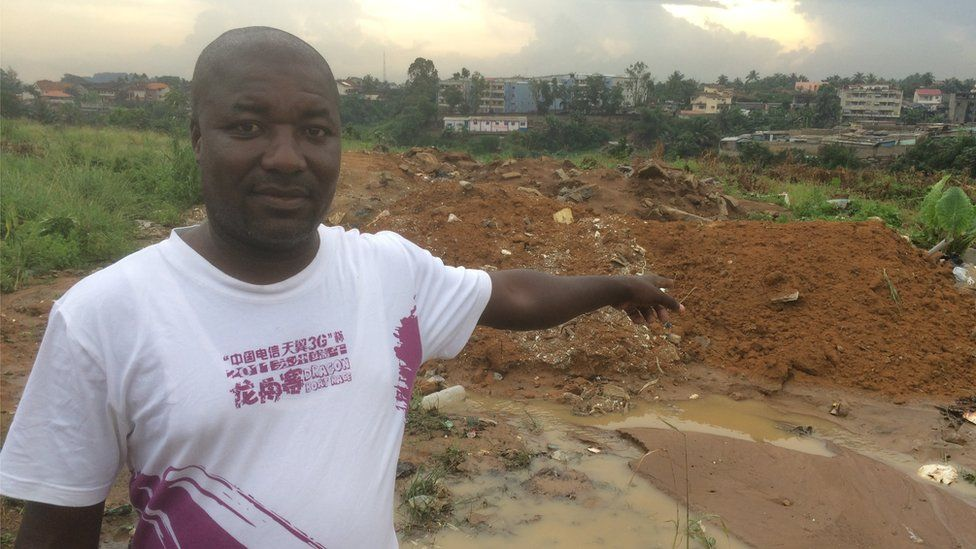 Mamadou Traore, whose house in a poor area of Abidjan was destroyed. He voted for Ouattara but is now disillusioned.
