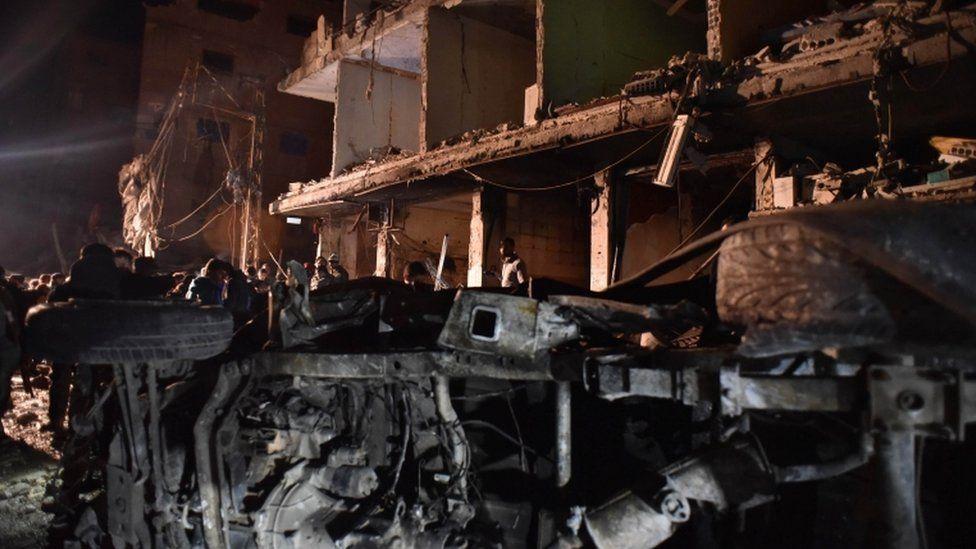 Dozens were killed in the blasts in Sayyida Zeinab, 21 Feb