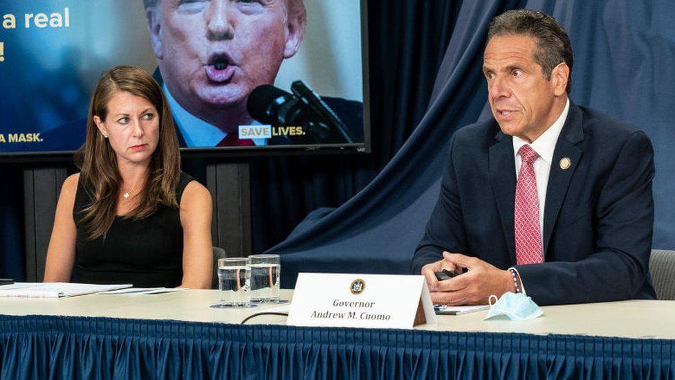Melissa DeRosa and Governor Andrew Cuomo