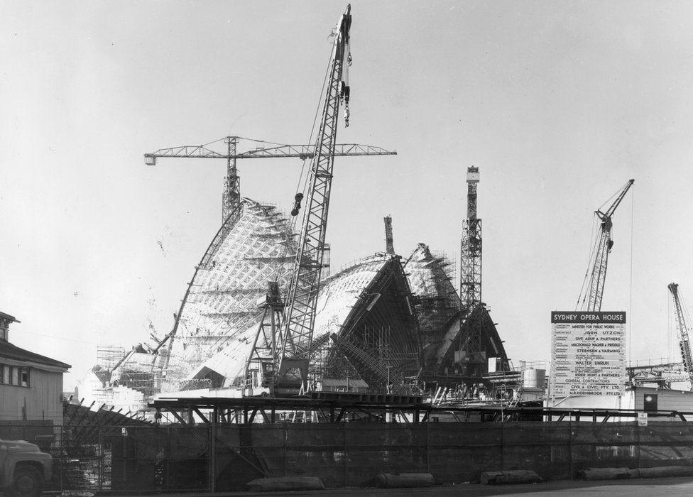 Sydney Opera House in 1963