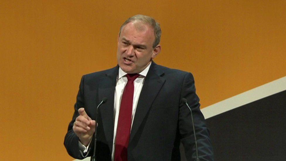 Liberal Democrat MP Sir Ed Davey