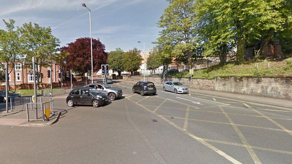 Waterloo Road and Newhampton Road East junction in Wolverhampton